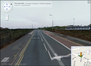 Picton Road as seen by the Google StreetView car