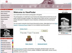 The Homepage of the ViewFinder website from the NMR