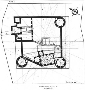 Plan of Liverpool Castle by E.W. Cox, from Wikipedia