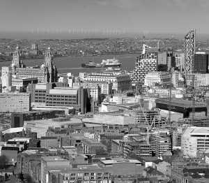 Liverpool Skyline by jimmmedia via Flickr