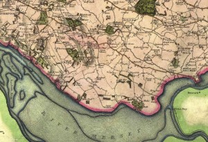 Extract from the Greenwood map of Lancashire, 1818