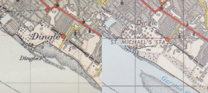 Two OS maps of Dingle, the 1947 and the 1964 Editions