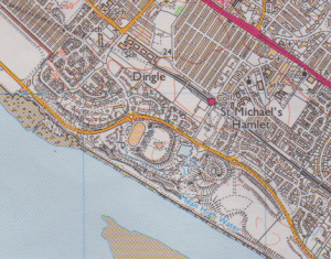 2000 Edition of the OS map showing the derelict International Garden Festival site