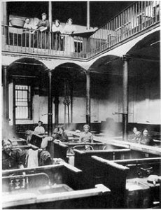 Photograph of the interior of Frederick Street wash house