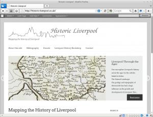 Screenshot of the Historic Liverpool homepage