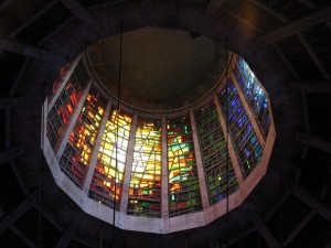 Photograph of the inside of the dome of the Catholic Cathedral, Liverpool