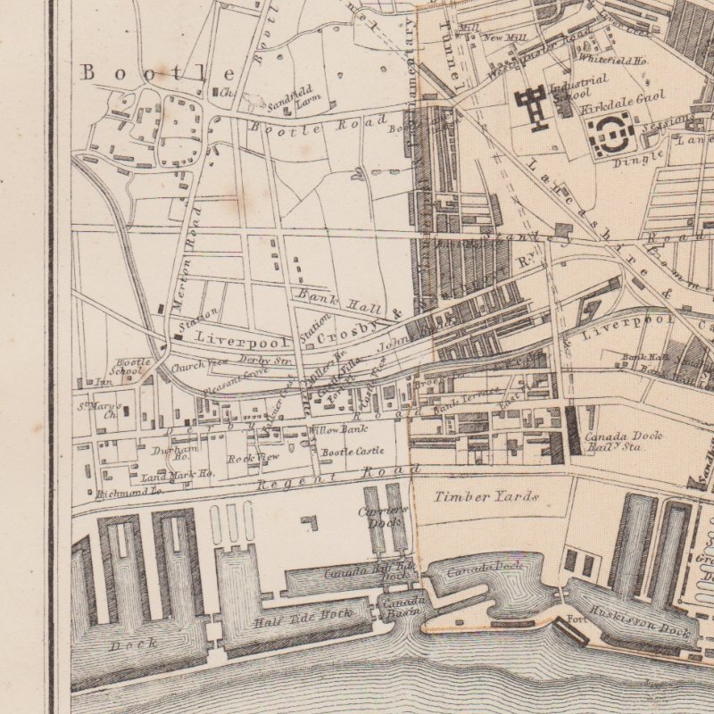 Bootle in 1878, from the Illustrated Globe Encyclopedia