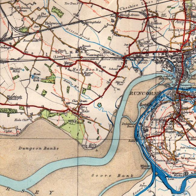 Ordnance Survey map of south Liverpool, 1934