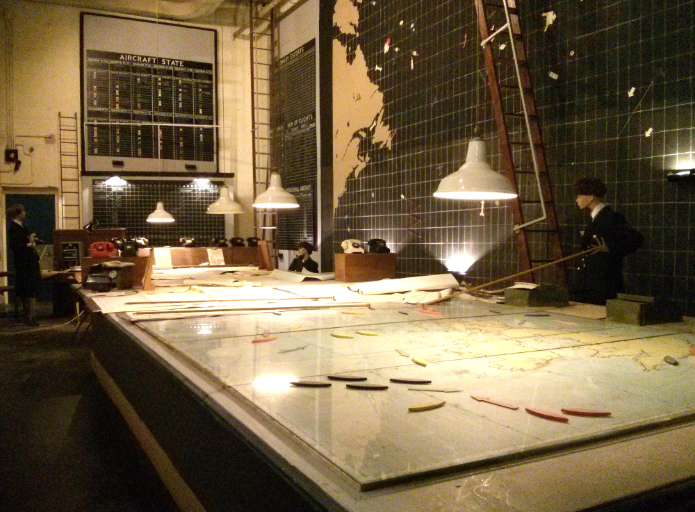 Photograph showing the table map at the Liverpool War Museum