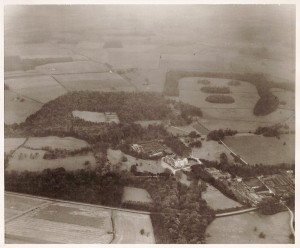 Aerial view of Croxteth Hall, taken in 1954