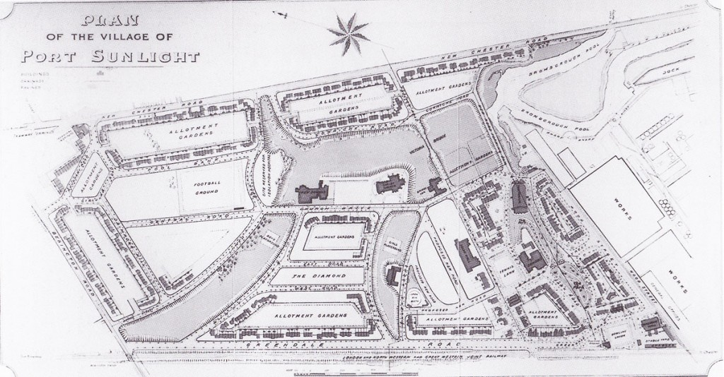 Plan of Port Sunlight from 1905