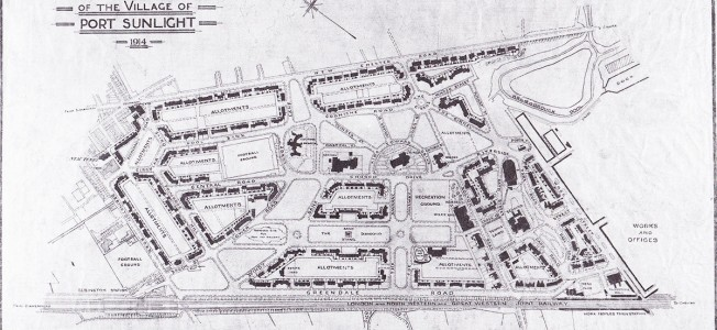 Plan of Port Sunlight from 1914