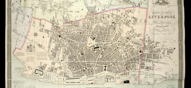 Gage's plan Liverpool, 1836
