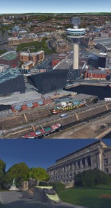 More Google Earth views of 3D Liverpool