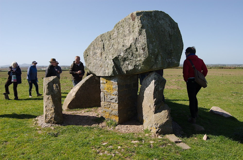Photo of Ty Newydd burial chamber on Anglesey